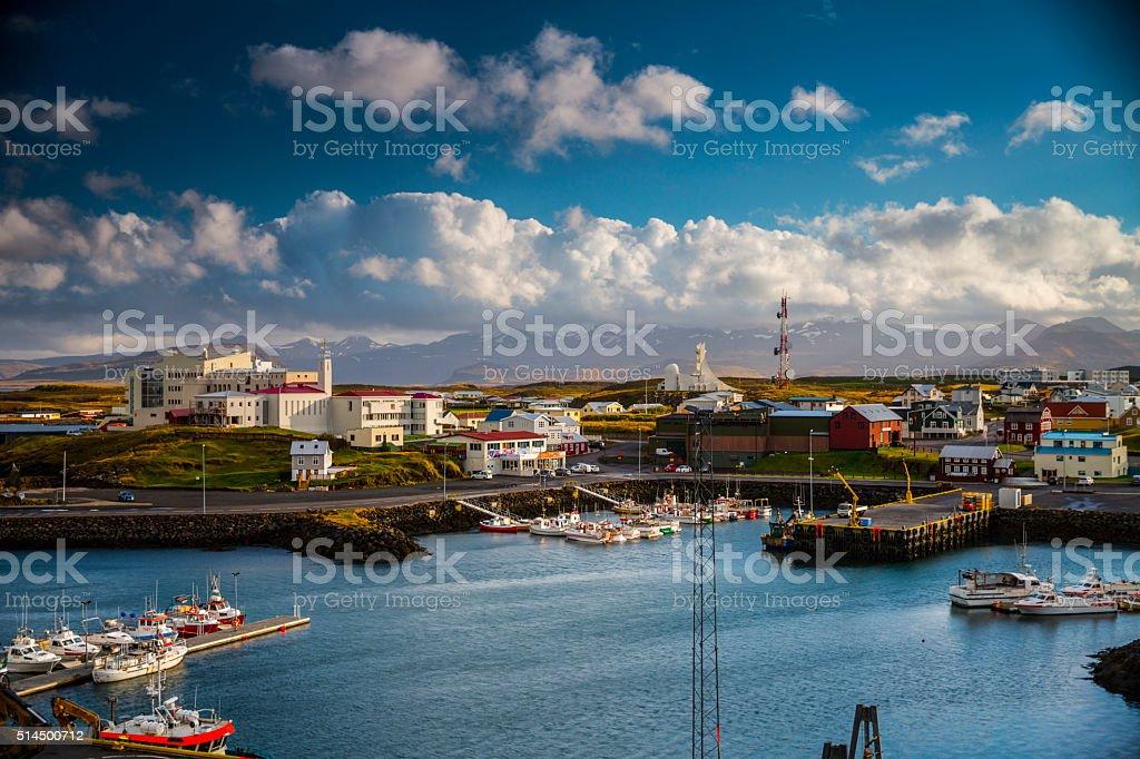 Stykkisholmur Harbor - Iceland stock photo