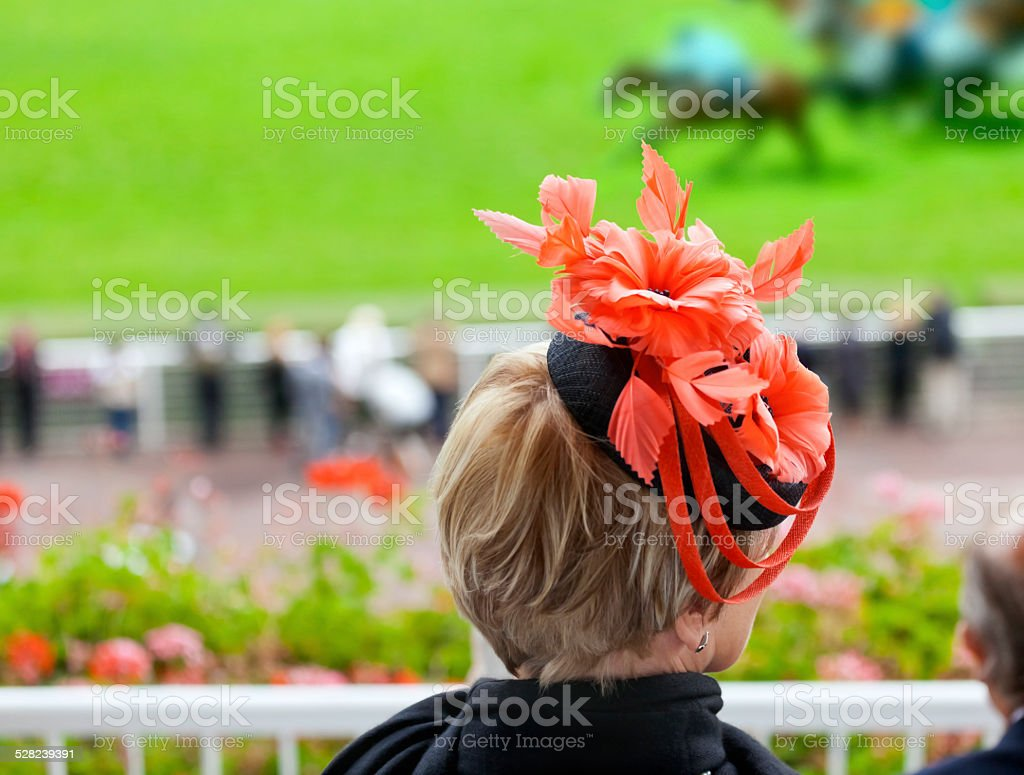 Style at the Racecourse stock photo
