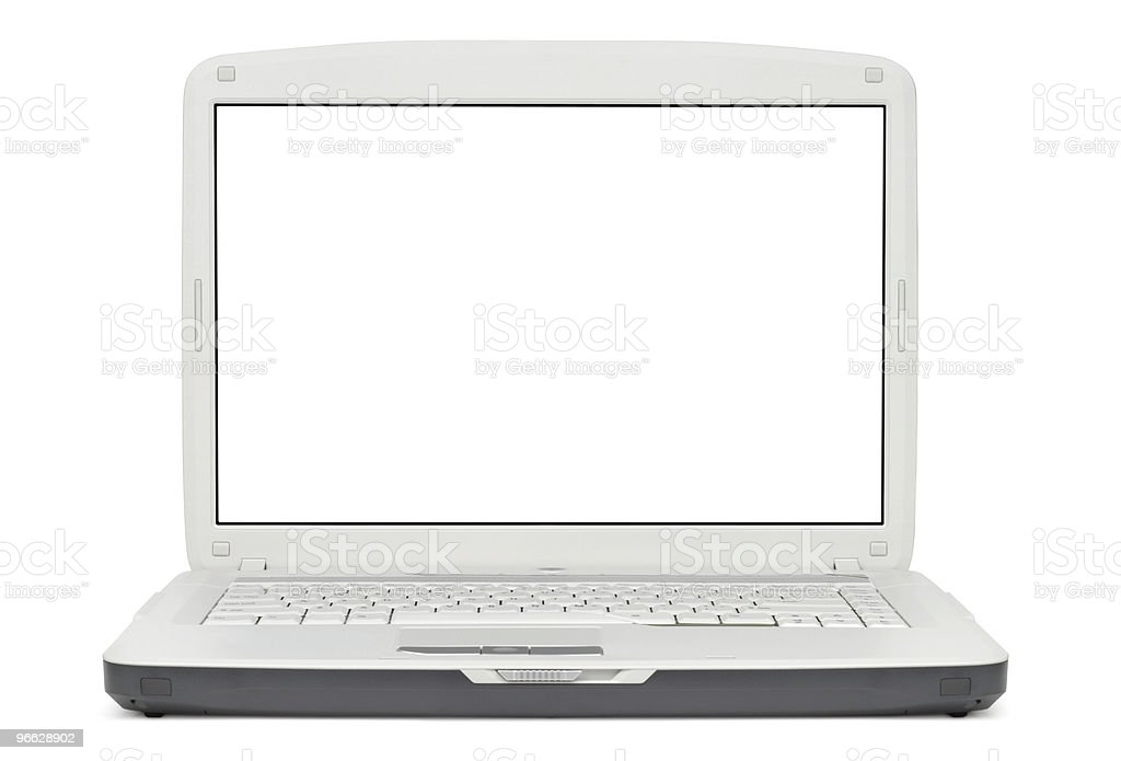 Style Gray Laptop royalty-free stock photo