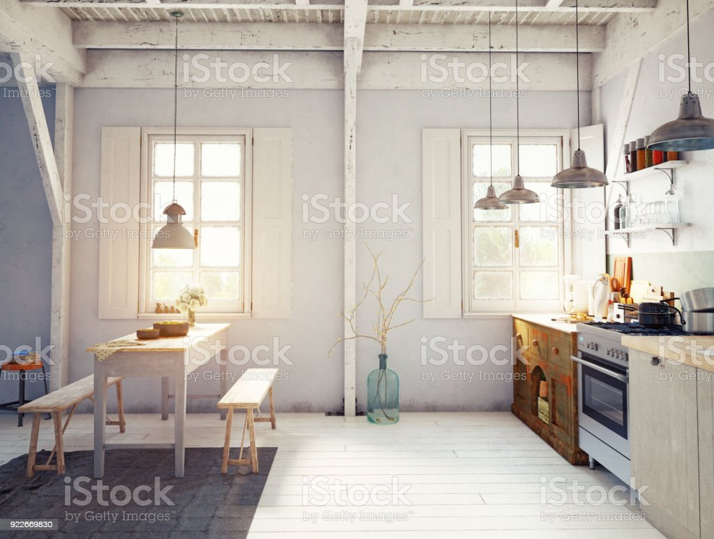 Style Kitchen Interior Stock Photo Download Image Now Istock