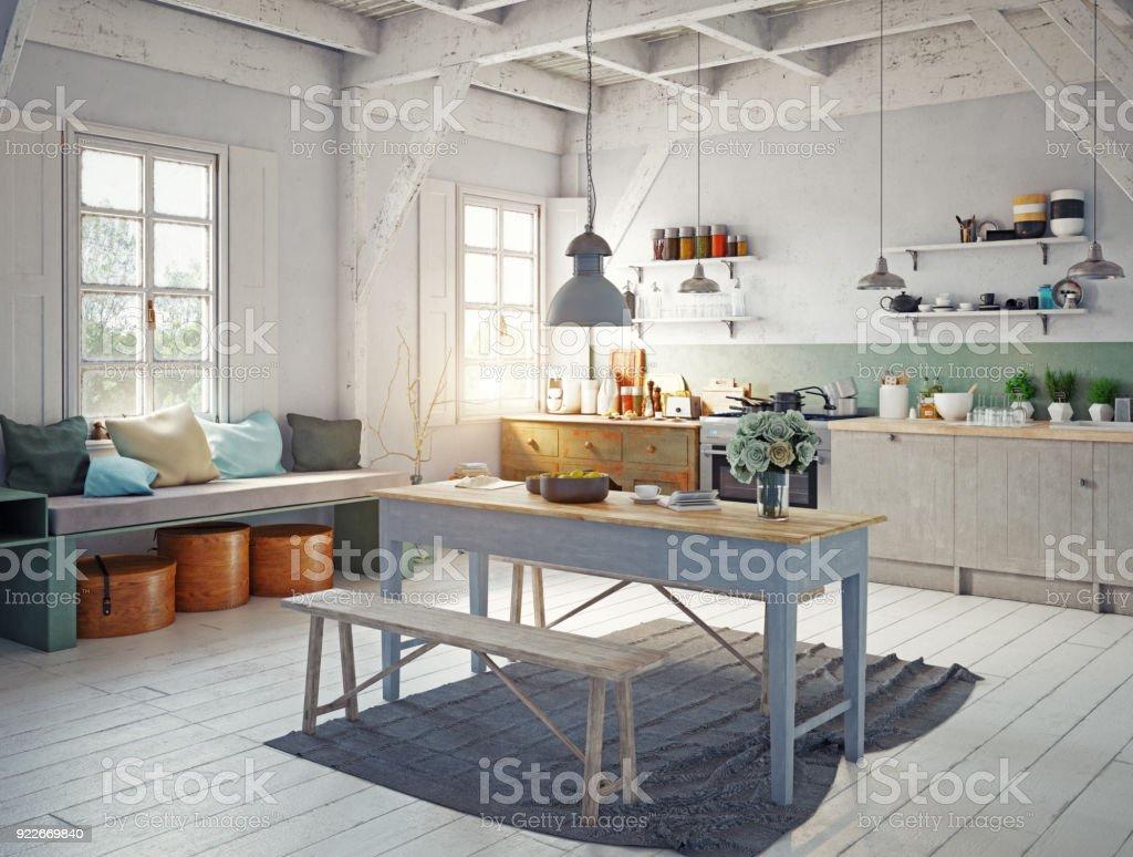 interior da cozinha de estilo. foto de stock royalty-free