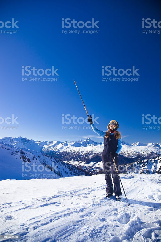 Style on the glacier stock photo