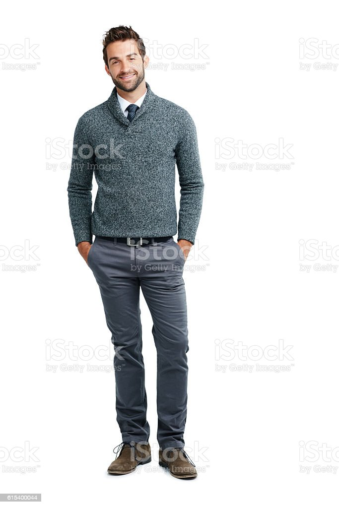 Style that appeals to the successful entrepreneur stock photo