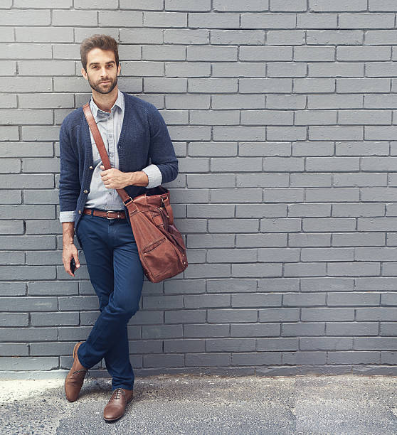 style that matches his ambition - preppy fashion stock photos and pictures