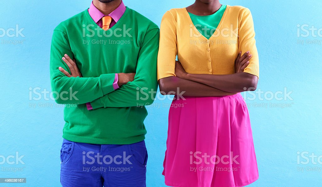Style with a colorful attitude stock photo