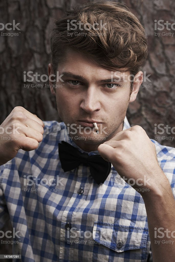 Style with a rough edge stock photo