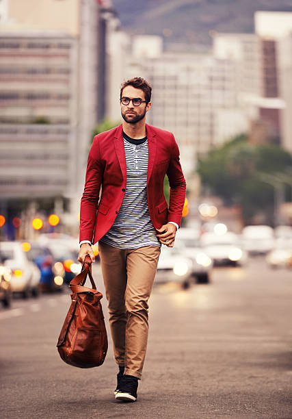styled for the city - preppy fashion stock photos and pictures