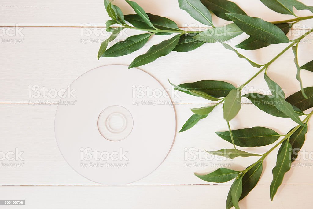 Styled natural eco home office stock photo