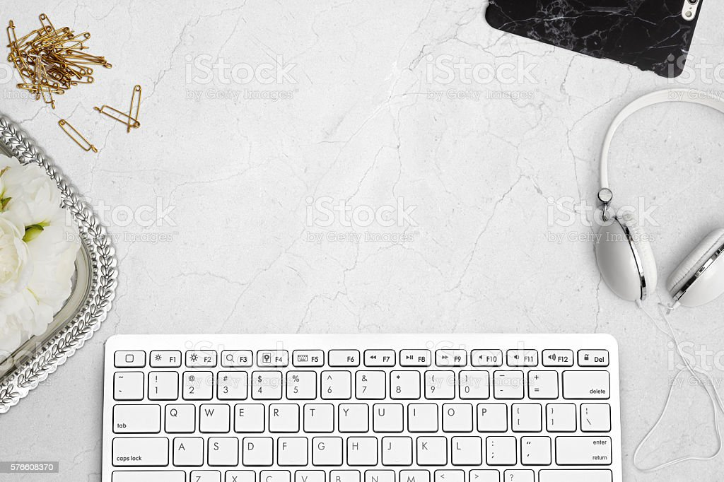 Styled Scene With Keyboard stock photo