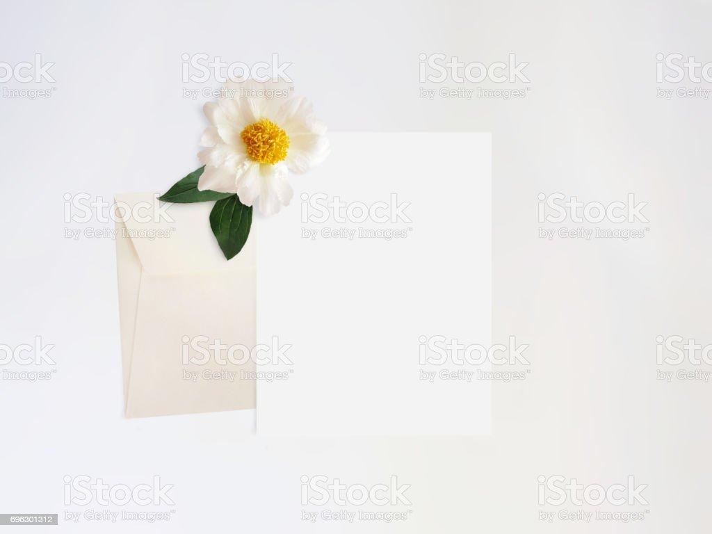 Styled Stock Photo Feminine Digital Product Mockup With Peony Flower
