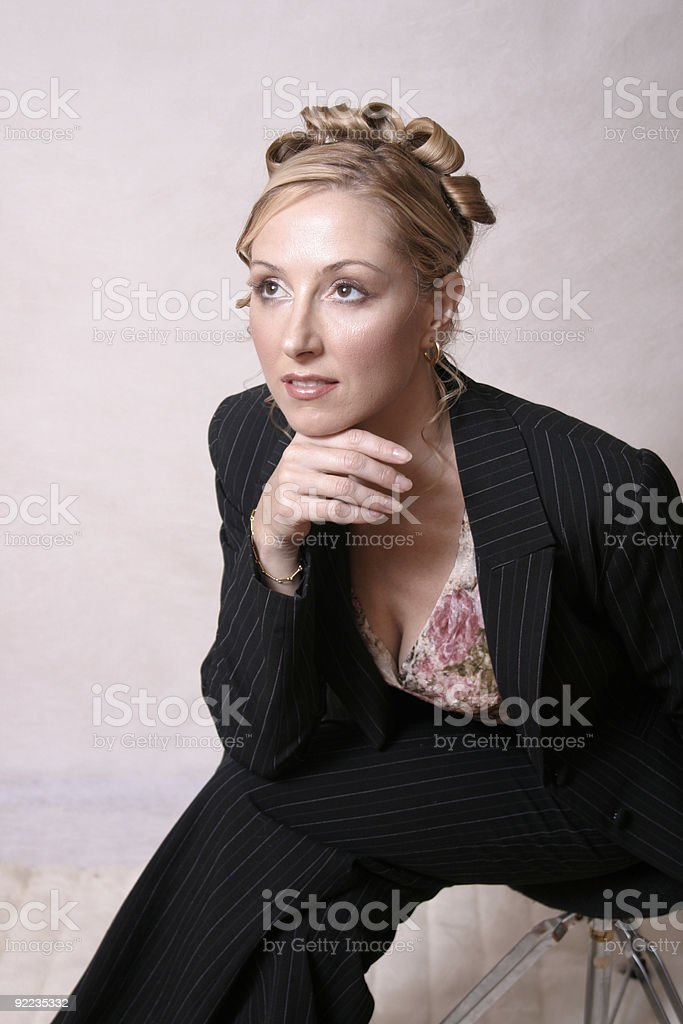 Styled woman royalty-free stock photo