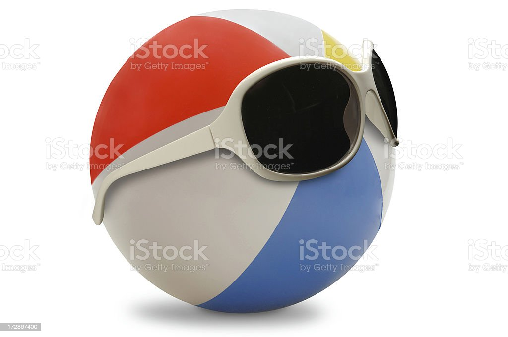 Styling Beach Ball royalty-free stock photo
