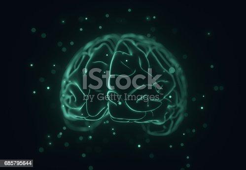 istock Stylised 3D Brain 685795644