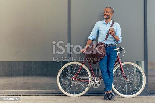 istock Stylish Afro American businessman 543360184