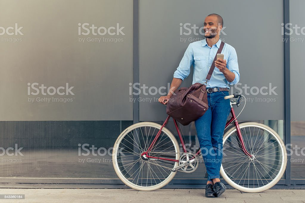 Stylish Afro American businessman stock photo