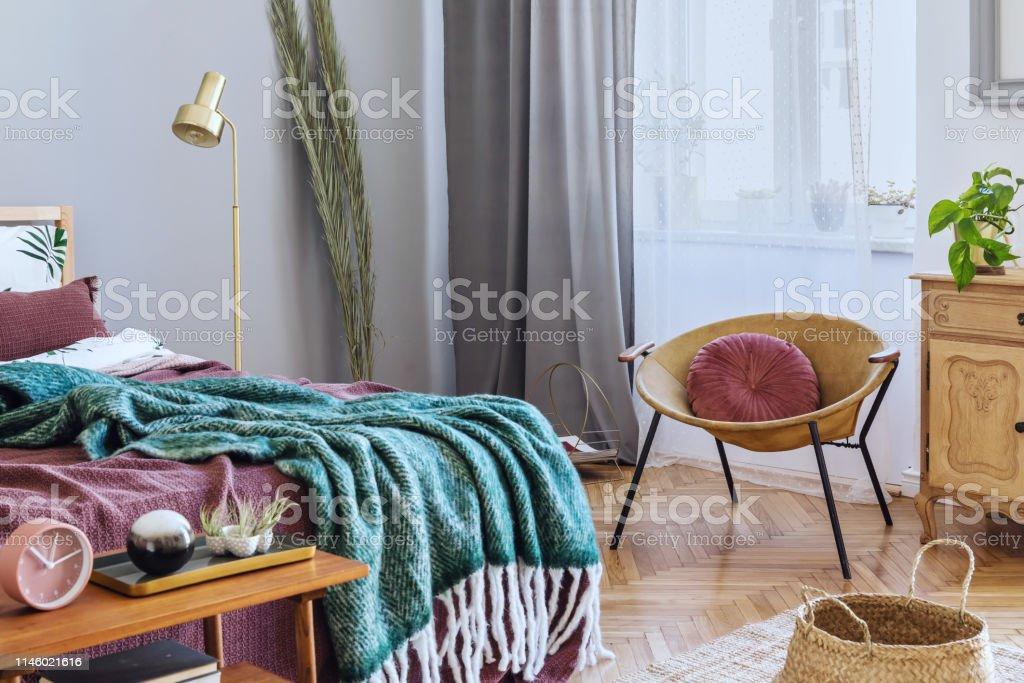 hermosos diseños de pared de dormitorio Elegante Y Lujoso Interior De Dormitorio Con Muebles De