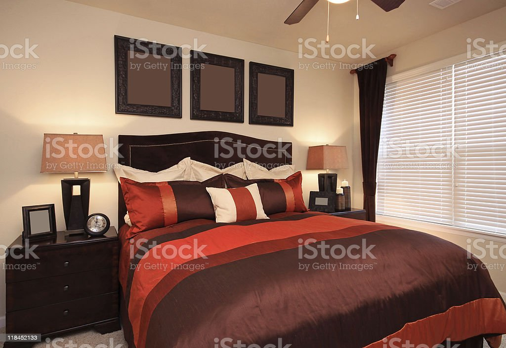 Stylish and Modern Bedroom royalty-free stock photo