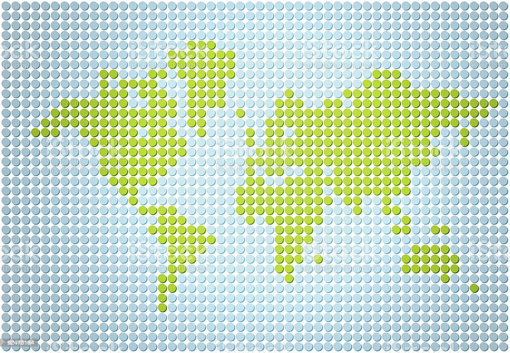 Stylish and simple world map stock photo