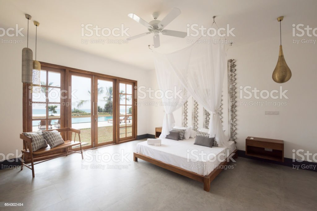 Stylish Apartment Bedroom With Double Bed Stock Photo Download Image Now Istock
