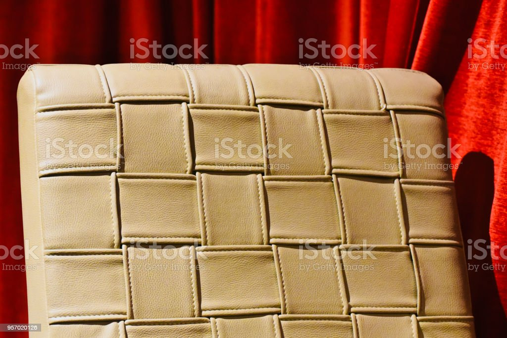 Stylish artificial leather of a chair isolated unique photo stock photo