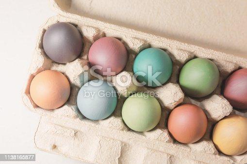 Stylish background of Easter eggs.