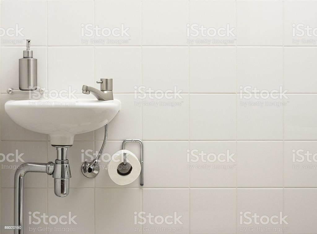 Stylish bathroom sink stock photo