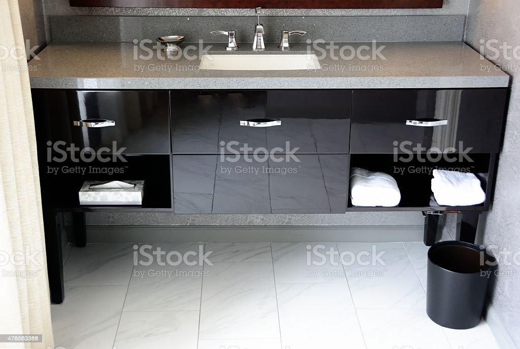 Stylish Bathroom Vanity stock photo