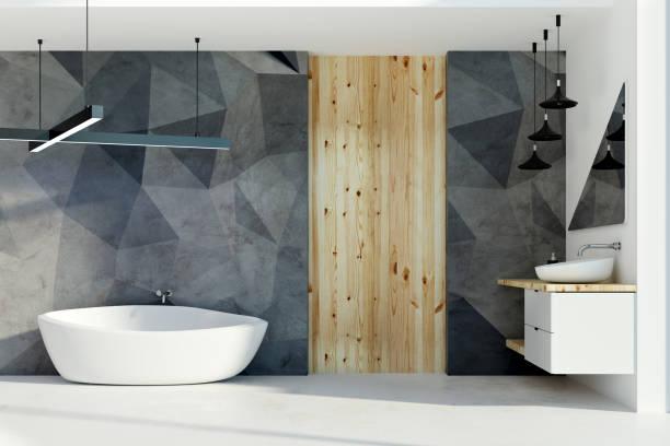 Stilvolles Badezimmer mit Tageslicht – Foto
