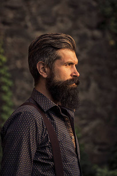 stylish bearded man outdoor stock photo more pictures of 2015 istock