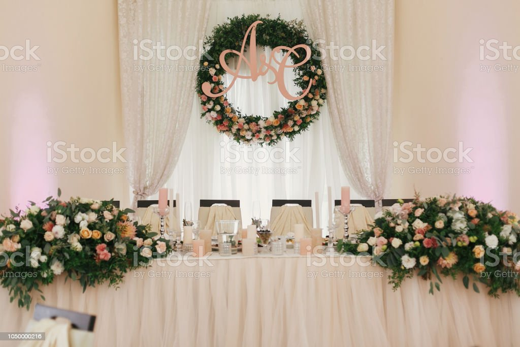 Stylish Beautiful Bouquets With Roses And Candles On Pastel