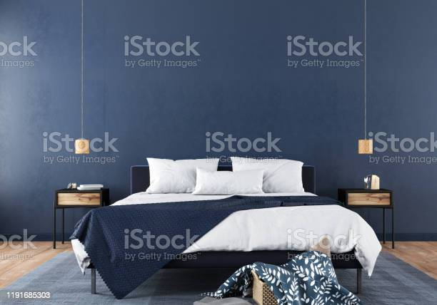 Stylish bedroom interior in trendy blue picture id1191685303?b=1&k=6&m=1191685303&s=612x612&h=yrkoj ih gqfiepfmwntz4 xirzlkhjlefhy ail86w=