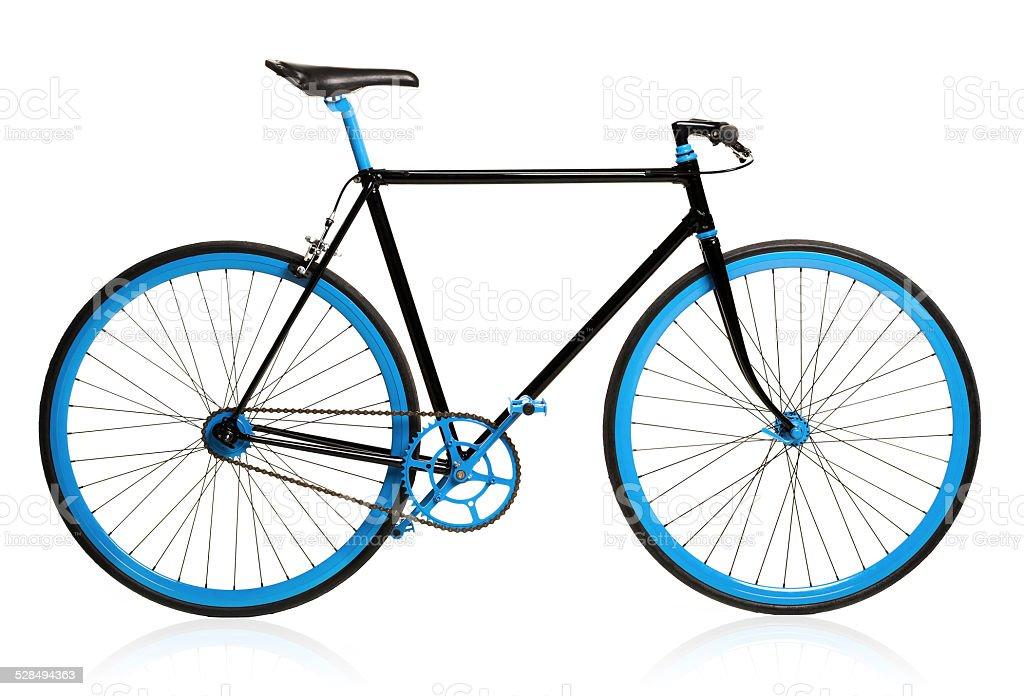 Stylish bicycle isolated on white stock photo