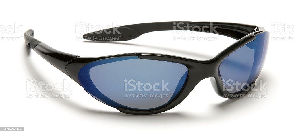 Stylish black men's sunglasses-isolated on white stock photo