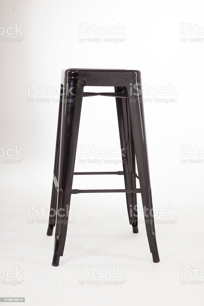 Stylish black metal chair stock photo