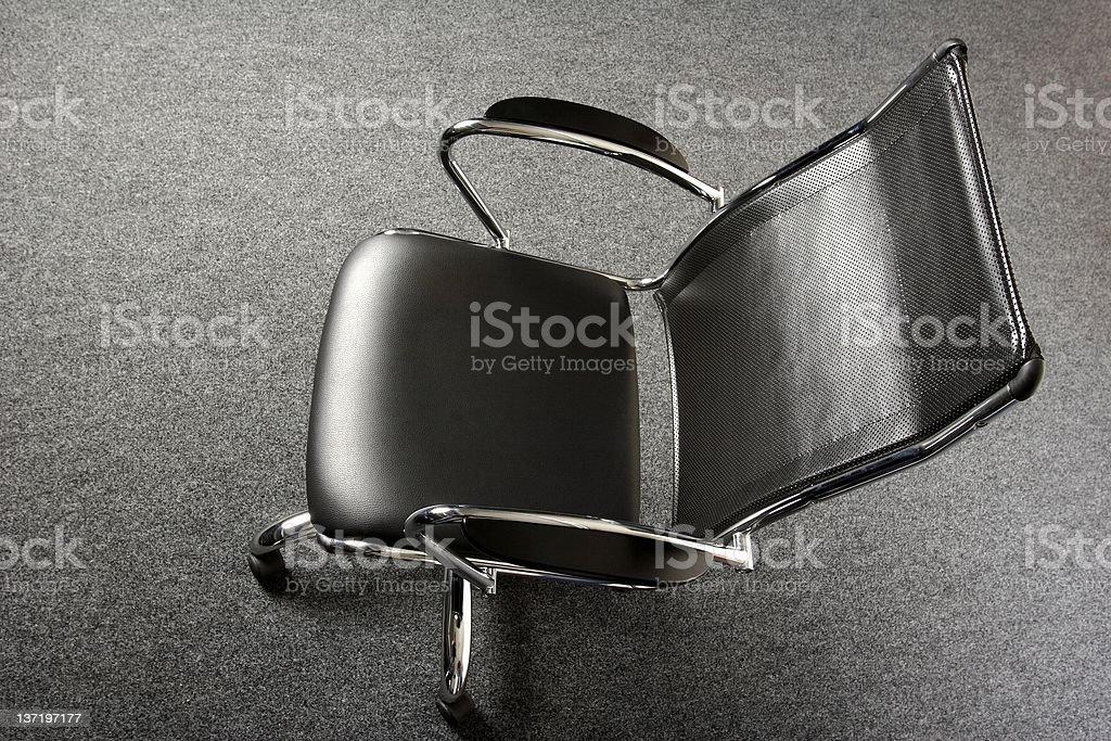 stylish black office chair royalty-free stock photo