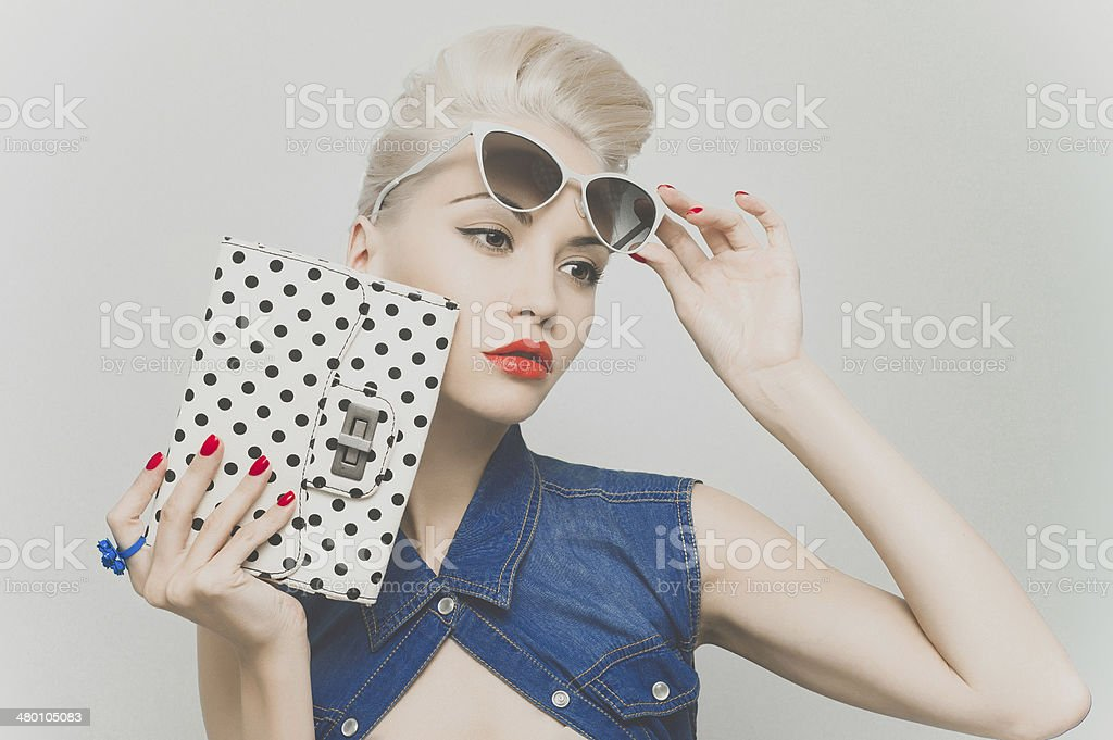 Stylish blonde stock photo