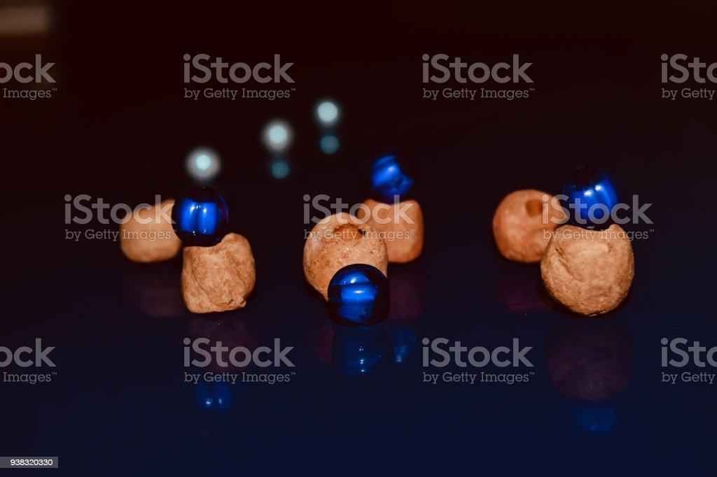 Stylish blue balls isolated object photo stock photo