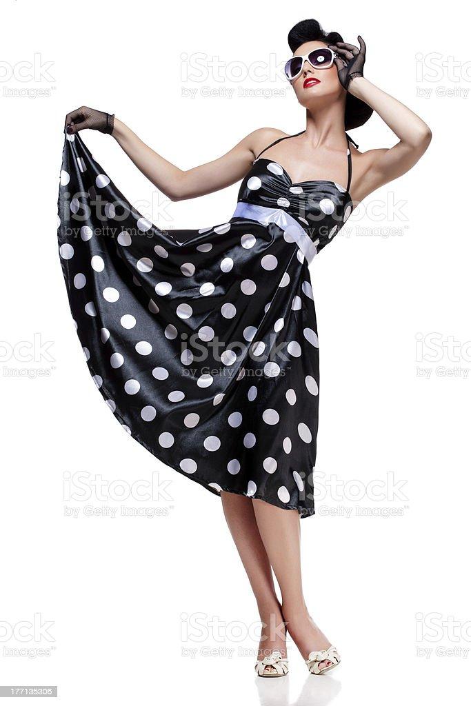 stylish brunette royalty-free stock photo