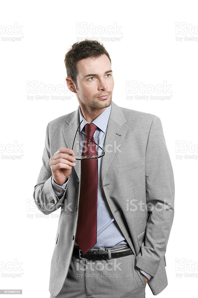 Stylish businessman looking away royalty-free stock photo