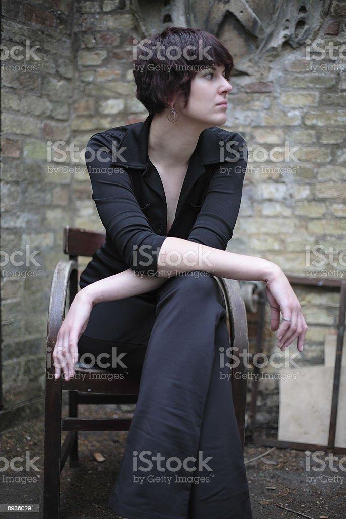 Elegante sedia foto stock royalty-free