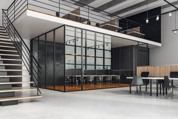 Stilvolle coworking Büroeinrichtung – Foto