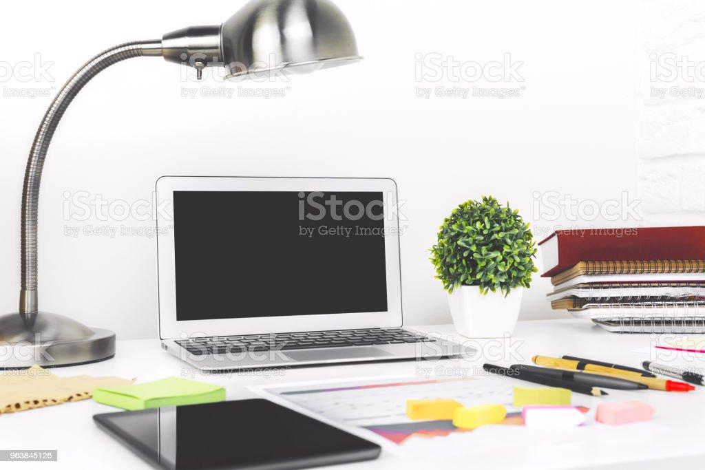 Stylish designer desktop closeup - Royalty-free Advertisement Stock Photo