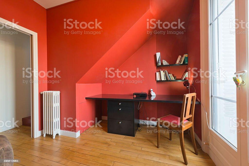 Photo de stock de un élégant intérieur de maison salle de bureau