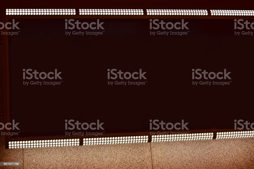 Stylish empty electric notice board isolated unique photo royalty-free stock photo