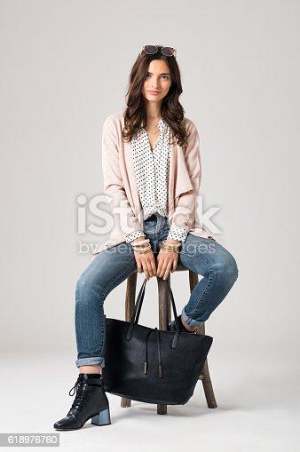 istock Stylish fashion woman 618976760