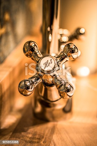 istock Stylish faucet in the bathroom 925853068