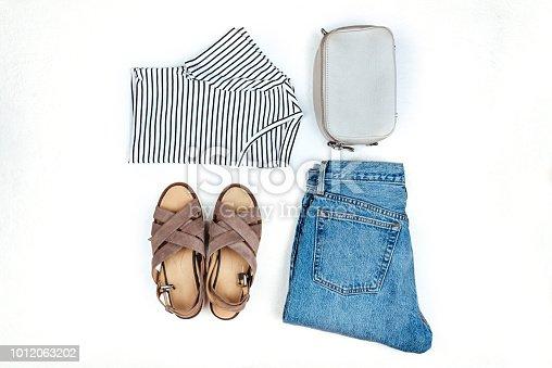 istock Stylish female clothes set. 1012063202