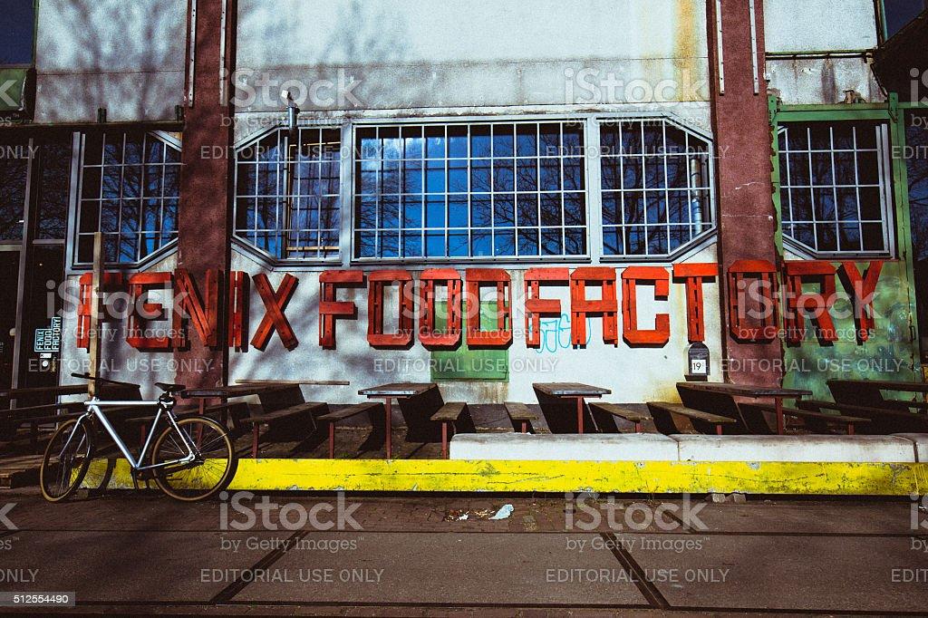 Stylish food factory in Rotterdam stock photo