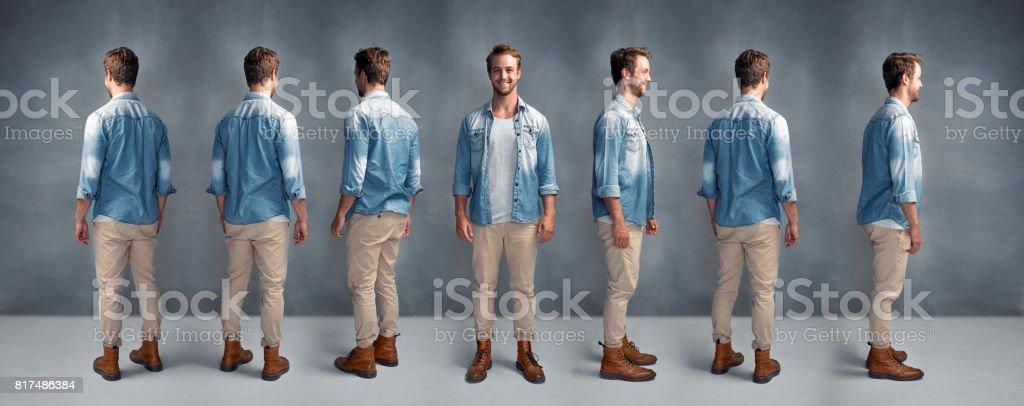 Stylish from every angle stock photo