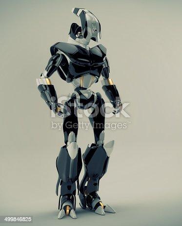 istock Stylish futuristic warrior 499846825